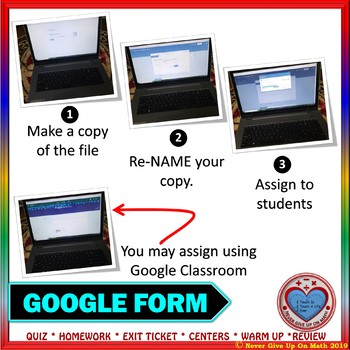 Use with Google Forms: Continuous Domain & Range of Relations & Functions
