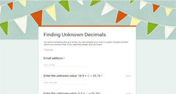 Google Forms - Decimal Pack