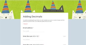 Google Forms - Decimal Pack