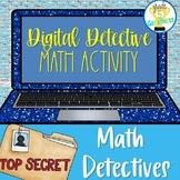 Google Forms Digital Detectives Math BUNDLE Distance Learning