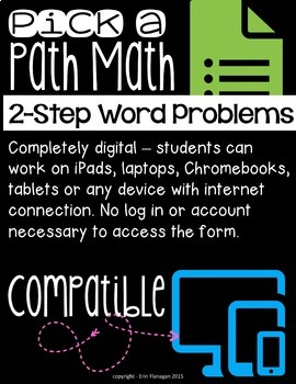 Google Forms Digital Interactive Math Story