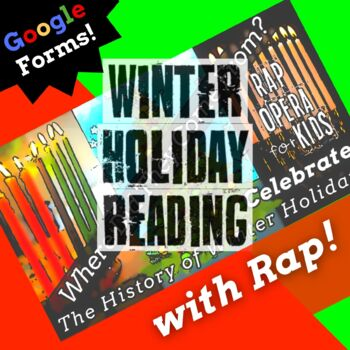 Google Forms Reading Holiday Context Clues Passage and Questions Using Rap Song