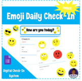 Google Forms Emoji Daily Check-In   Distance Learning eLea