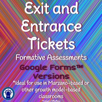Google Forms Entrance and Exit Tickets