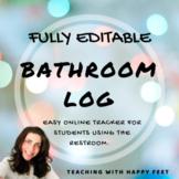 Google Forms: FULLY EDITABLE Bathroom Log