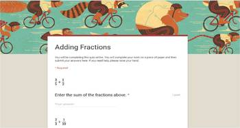 Google Forms - Fractions Pack