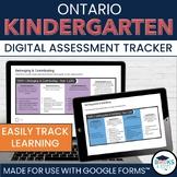 Full Year - Kindergarten Four Frames Assessment Tracker for Google Forms