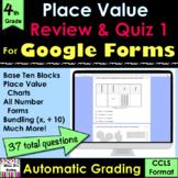 For Google Forms Grade 4 Place Value Review & Quiz #1 (aut
