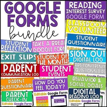 Google Forms Growing Bundle