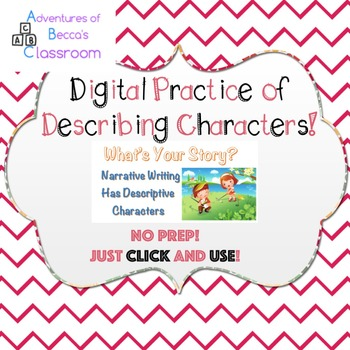 Google Forms Interactive Narrative Writing: Describing Characters