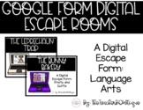 Google Forms Language Arts Digital Escape Rooms (Growing Bundle)