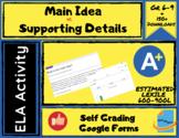 Main Idea Assessment Digital Form - Self Grading