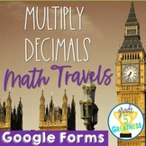 Multiply Decimals with Google Forms Math and Travel Distan