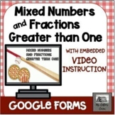 Google Forms Mixed Numbers, Improper Fractions - Video -Di