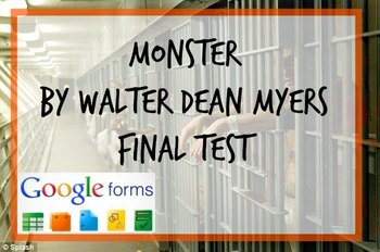 Google Forms-Monster by Walter Dean Myers Final Test