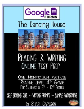 "SBAC Google Forms ONLINE ~ ELA Test Prep ~1 Article ""The Dancing House""~"