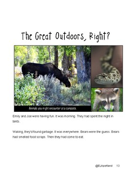 """SBAC Google Forms ONLINE ELA Test Prep ~1 Article """"The Great Outdoors, Right?"""""""