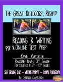 """SBAC Test Prep ~ 1 Text, """"The Great Outdoors, Right?"""" ~ ONLINE Google Forms"""