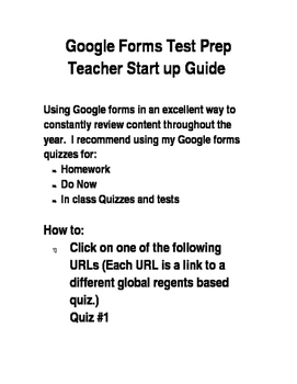 Google Forms Online Quizzes for Global Studies Test Prep 2
