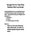 Google Forms Online Quizzes for Global Studies Test Prep
