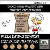 Google Forms Pizza Eating Contest - Equivalent Fractions -