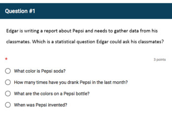 Google Forms Quiz - Anticipating Statistical Variability - 6.SP.1