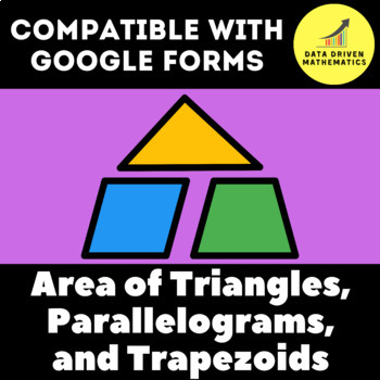 Google Forms Quiz - Area of Triangles, Parallelograms, and Trapezoids - 6.G.1