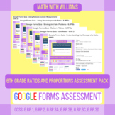 Google Forms Quiz Bundle - 6.RP Ratios and Proportional Relations - 6 Quizzes