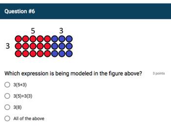 Google Forms Quiz - Distributive Property - 6.NS.4