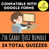 7th Grade Quiz Bundle (Entire Year) for Google Forms™ - Di