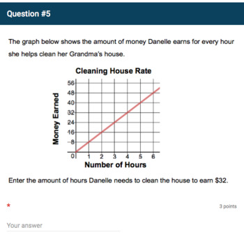 Google Forms Quiz - Interpreting Graphs with Proportional Relationships-7.RP.2d