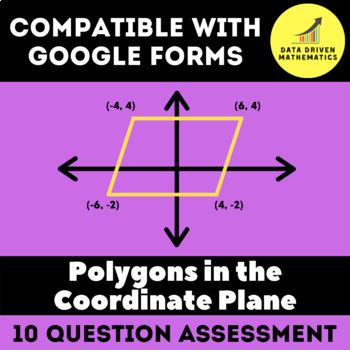 Google Forms Quiz - Polygons in the Coordinate Plane - 6.G.3