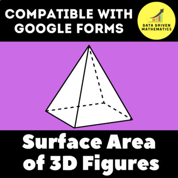 Google Forms Quiz - Surface Area of Three-Dimensional Figures - 6.G.A.4