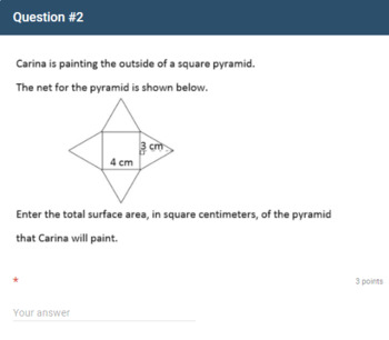Google Forms Quiz - Surface Area of Three-Dimensional Figures - 6.G.4