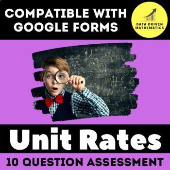 Google Forms Quiz - Unit Rates - 6.RP.2