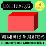 Google Forms™ Quiz - Volume of Rectangular Prisms - 5.MD.3