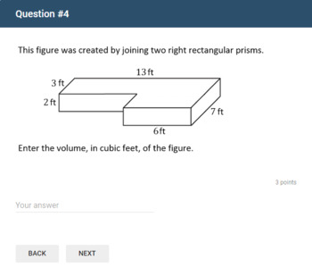 Google Forms Quiz - Volume of Right Rectangular Prisms - 6.G.A.2
