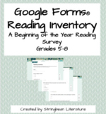 Google Forms Reading Inventory