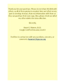 Google Forms Rubric for Data Collection: Kitchen Safety