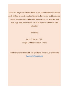 Google Forms Rubric for Data Collection: Washing Hands
