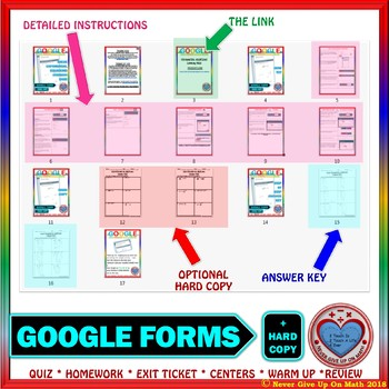 Google Forms: Solve Exponential Equations using Common Base Quiz or Homework