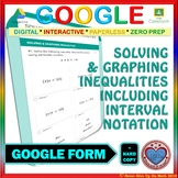 Use with Google Forms: Solving & Graphing Inequalities Quiz or Homework