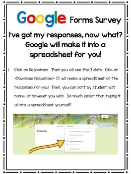 Google Forms Student Information Sheet in English & Spanish