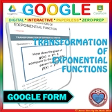 Use with Google Forms: Transformation of Exponential Functions