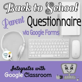 Google Forms Tutorial AND LINK to Back to School Questionn