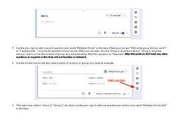 Google Forms Tutorial - Group Project Feedback