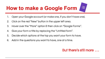 Google Forms for Data Collection & Communication
