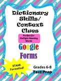 Google Forms for Dictionary Skills & Context Clues - STAAR formatted