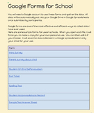 Google Forms for Teachers