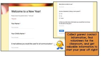 Google Forms for the Start of the Year